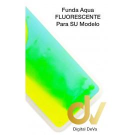 Mi A2 Lite / Redmi 6 Pro XIAOMI Funda Agua Purpurina VERDE NEON