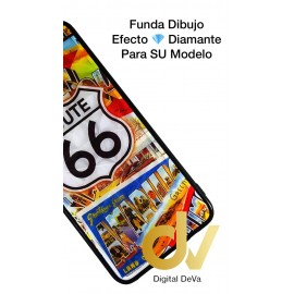 DV P20 LITE HUAWEI FUNDA DIBUJO DIAMOND ROUTE 66