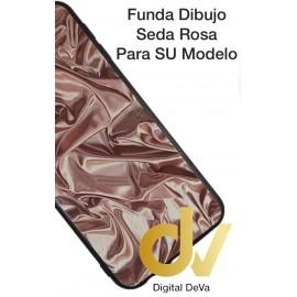 A40 SAMSUNG FUNDA Dibujo  5D TEXTURA SEDA ROSA