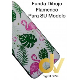 DV Y6 2019 HUAWEI FUNDA DIBUJO RELIEVE 5D FLAMINGOS