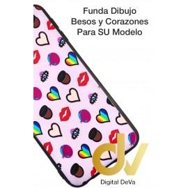 iPHONE X / XS FUNDA Dibujo 5D BESOS Y CORAZONES