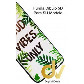 A10 Samsung Funda Dibujo 5D GOOD VIBES ONLY