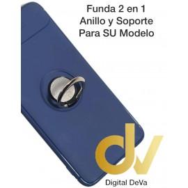 iPHONE X / XS FUNDA 2 EN 1 Anillo y Soporte AZUL