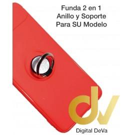 iPHONE X / XS FUNDA 2 EN 1 Anillo y Soporte ROJO