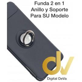 iPHONE X / XS FUNDA 2 EN 1 Anillo y Soporte NEGRO