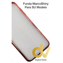 DV S9 SAMSUNG  FUNDA CROMADO MARCO SHINY ROJO