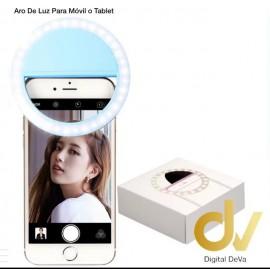 Aro De Luz Para Movil / Tablet Azul