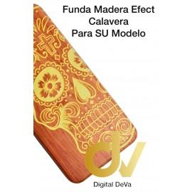 S9 Plus Samsung Funda Madera Efect CALAVERA