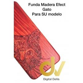DV P20 PLUS HUAWEI FUNDA WOOD EFFECT GATO