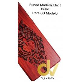 Psmart Huawei Funda Madera Efect BUHO