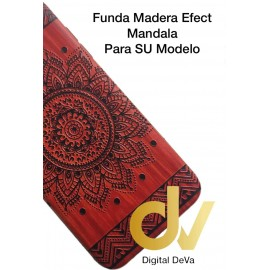 Psmart Huawei Funda Madera Efect MANDALA