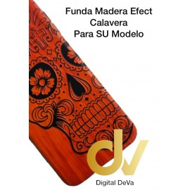 P20 Lite Huawei Funda Madera Efect CALAVERA