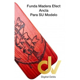 P20 Lite Huawei Funda Madera Efect ANCLA