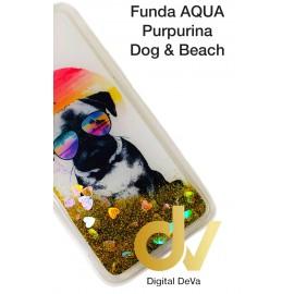 iPHONE 11 FUNDA Agua Puerpurina DOG & BEACH