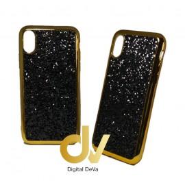 iPhone X / XS Funda Glitter Brilli Brilli NEGRO