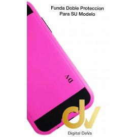 DV FUNDA PVC DOS COLORES IPHONE 5G/5S/5SE ROSA/NEGRO