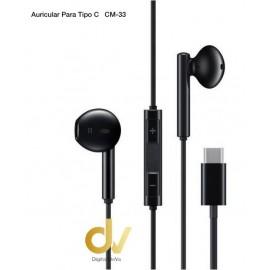 Auricular TIPO C REF: CM33 Negro