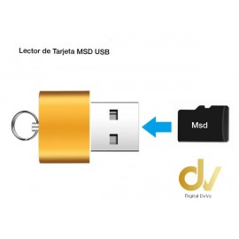 Lector USB Memoria MSD Llavero