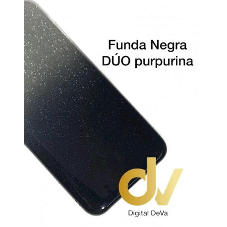 Redmi Note 8T XIAOMI FUNDA Duo Purpurina NEGRO