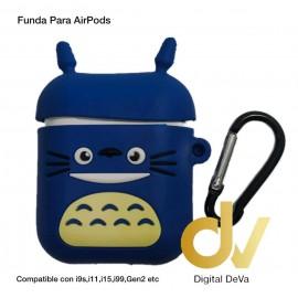 Funda Para AirPods Gatito Azul