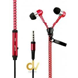 Auricular Zipper Jack 3.5mm Rojo