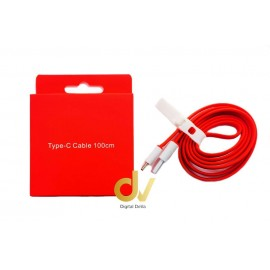 Cable Rojo Tipo C 1MT