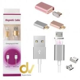 Cable Magnetico Android y Lighting Dorado