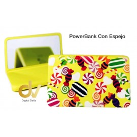 Power Bank Bateria Externa 8800MAH Espejo Dulces