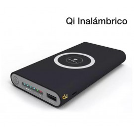Power Bank Qi  Inalambrico 10000mah NEGRO