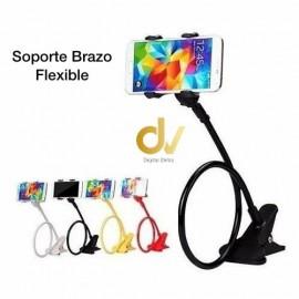 Soporte Brazo Flexible Pinza Blanco