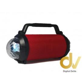 Altavoz Bluetooth GT-115  DISCO LED ROJO