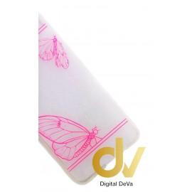 P9 Huawei Funda Transparente Dibujo Mariposas Rosa
