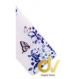 P9 Huawei Funda Transparente Dibujo Mariposas Azul