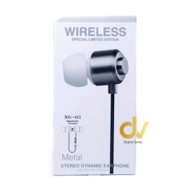 Auricular Bluetooth MAGNETIC XG-421 Plata