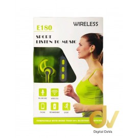 Auricular Bluetooth Sports EDITION E180 VERDE