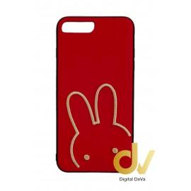 iPhone 7 Plus / 8 Plus Funda Tejido A Mano Conejo Rojo