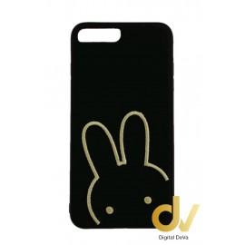 iPhone 7 Plus / 8 Plus Funda Tejido A Mano Conejo Negro