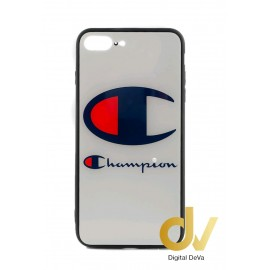 iPHONE 7plus / 8plus FUNDA De Cristal Templado Dibujo CHAMPION