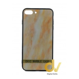 iPHONE 7plus / 8plus FUNDA Efecto Marmol DORADO
