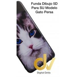 A50 SAMSUNG Funda Dibujo 5D Gato
