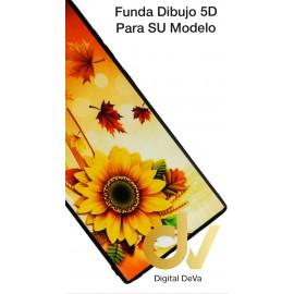 A50 SAMSUNG Funda Dibujo 5D Flores Otoño