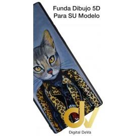 A50 SAMSUNG Funda Dibujo 5D Gato Elegante