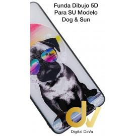 A50 SAMSUNG Funda Dibujo 5D Piel Perro & Sol