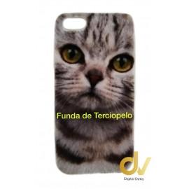 iPhone 6 Plus Funda Terciopelo Gato
