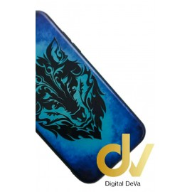 A10 Samsung Funda Dibujo 5D LOBO AZUL