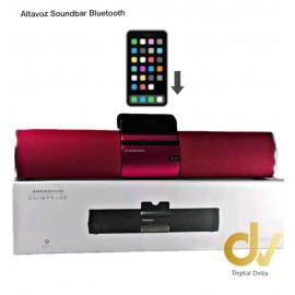 Altavoz Soundbar Bluetooth Rojo