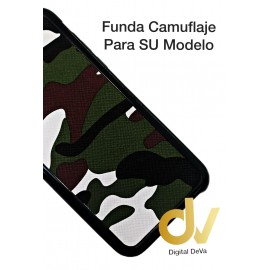 iPhone 7 Plus / 8 Plus Funda Camuflaje Tejido Verde