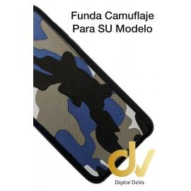 S7 Edge Samsung Funda Camuflaje Tejido Azul