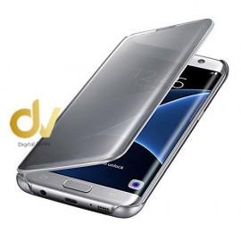 A90 5G Samsung Funda Flip Case Espejo PLATA