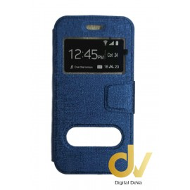iPhone 7 Plus / 8 Plus FUNDA LIBRO 2 Ventanas AZUL